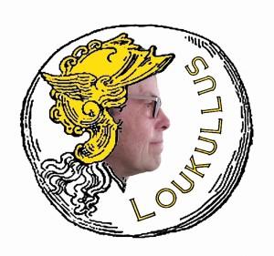 Loukullus Muntembleem met gezicht Louk